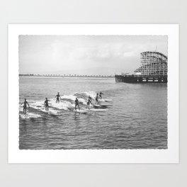 Long Beach Surfers 1930s Art Print