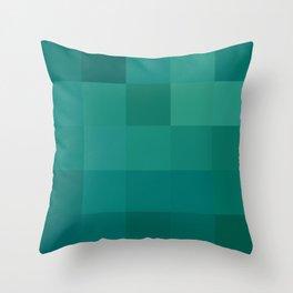 BLOCKS - GREEN TONES - 1 Throw Pillow