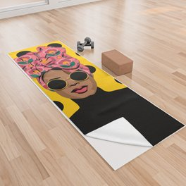 Black Beauty Yoga Towel