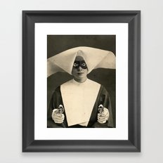 SARCHOTIC:  ANOTHER CHEAP TRICK Framed Art Print