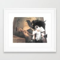 valentina Framed Art Prints featuring Valentina by Lacruxx Lacroixx
