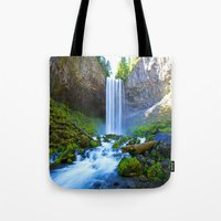 waterfall Tote Bags featuring Waterfall by 2sweet4words Designs