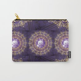 Decorative Background with Round Amethyst Carry-All Pouch