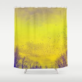 WARM TREES 1 _ keep the warm from the colors of fall Shower Curtain