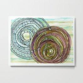 Double Mandala Metal Print