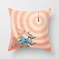 Singing Octopus Throw Pillow