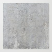 concrete Canvas Prints featuring Concrete by Patterns and Textures