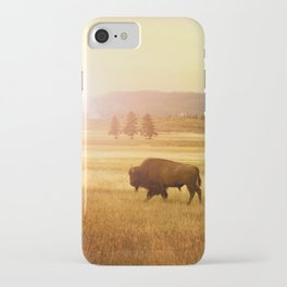 Bison at Yellowstone iPhone Case