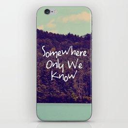 Somewhere iPhone Skin