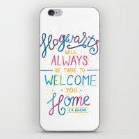 hogwarts iPhone & iPod Skins featuring Hogwarts by IndigoEleven