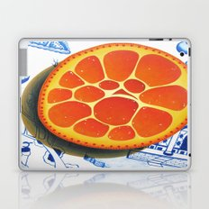 Orange on plate made where they speak Mandarin Laptop & iPad Skin
