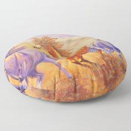 Free Spirits   Esprits Libres Floor Pillow