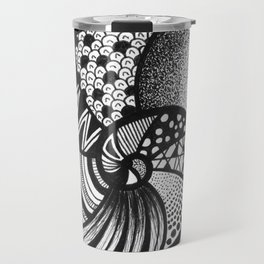 AMMONITE FOSSIL BY LEONIE FLIN Travel Mug