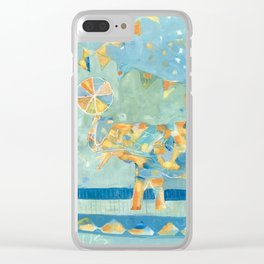Circus Elephant Clear iPhone Case