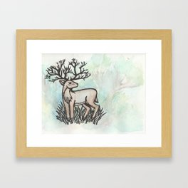 God of the Forest Framed Art Print