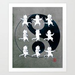 Tai Chi Cat Moves #1 Art Print