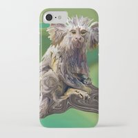 psychadelic iPhone & iPod Cases featuring Melanie's Marmoset by Distortion Art