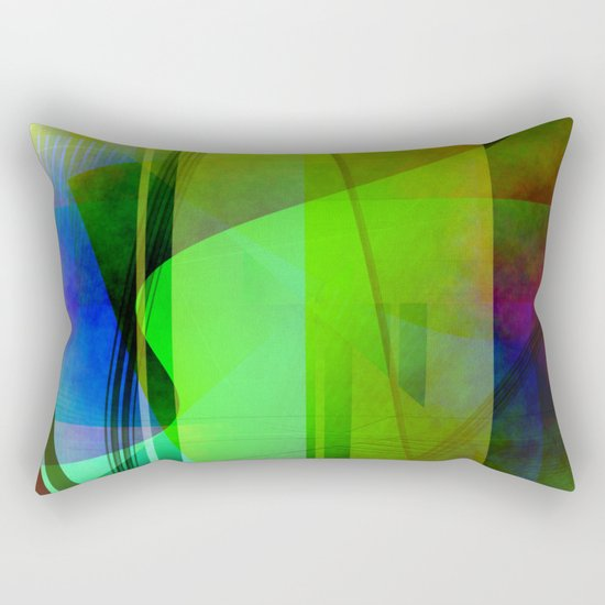 Multicolored abstract 2016 / 006 Rectangular Pillow