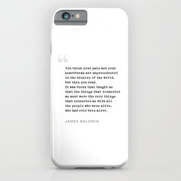 James Baldwin Quote on Books iPhone Case
