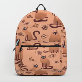 Christmas Ornaments and Cats Pattern Backpack