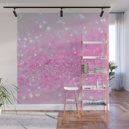 Sparkling Baby Girl Pink Glitter Effect Wall Mural