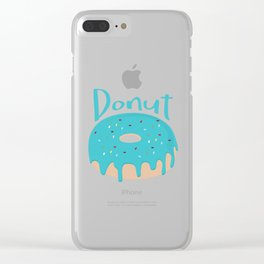 Life is short - Eat more Donuts Clear iPhone Case
