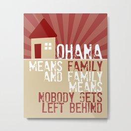 Ohana Means Family - Lilo & Stitch Metal Print