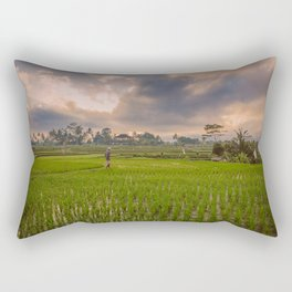 Bali rice field Rectangular Pillow