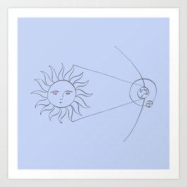Solstice d'hiver Art Print