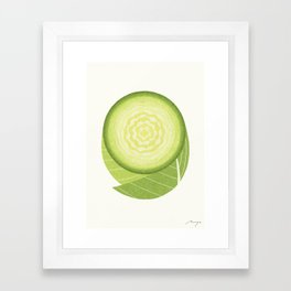 Cabbage Framed Art Print
