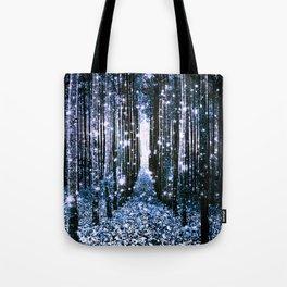 Magical Forest Dark Blue Elegance Tote Bag