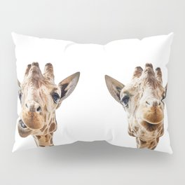 Funny Giraffe Portrait Art Print, Cute Animals, Safari Animal Nursery, Kids Room Poster, Wall Art Pillow Sham
