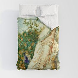 """Gustave Moreau """"The Peacock Complaining to Juno"""" Comforters"""