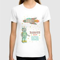 outer space T-shirts featuring Robots from Outer space by Silvia Dekker