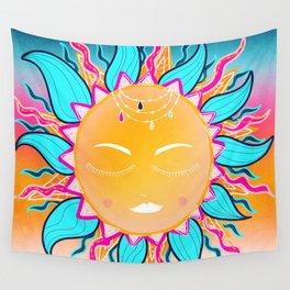 Gypsy Bohemian Dream, Zentangle Sun Wall Tapestry