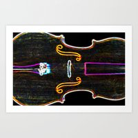 cello Art Prints featuring Cello by J.Lauren