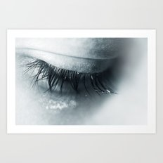 Sadness is blue Art Print