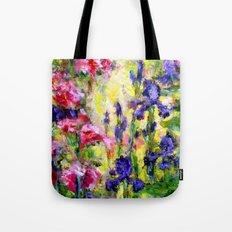 Purple Iris Garden Tote Bag