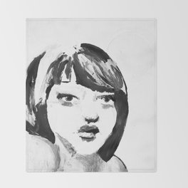 Portrait 115 Throw Blanket