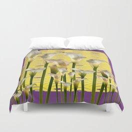 Purple-Yellow Calla Lilies Pattern Duvet Cover
