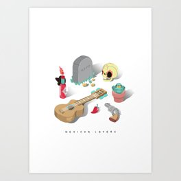 Mexican Lovers Art Print