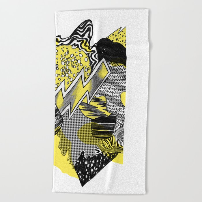 Vase on galaxies Beach Towel