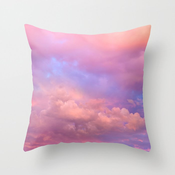 See the Dawn (Dawn Clouds Abstract) Throw Pillow