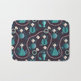 Diamonds and pearls Bath Mat