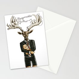 Responsible father / Padre responsable Stationery Cards