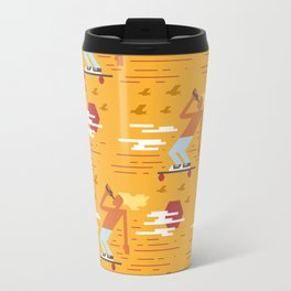 Skateboarders Holiday Pattern Travel Mug