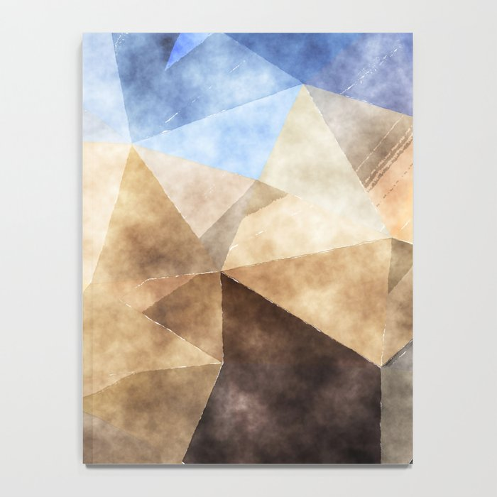 On the fields- Abstract watercolor triangle pattern Notebook