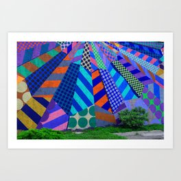 The Patterns on the Wall Art Print