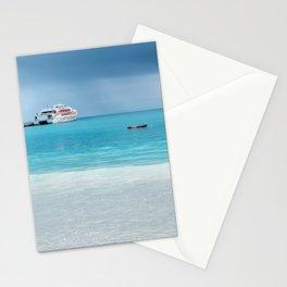 Beautiful light at the horizon on a rainy day at Kuto Bay Stationery Cards