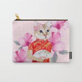 Cheongsam Cat Carry-All Pouch